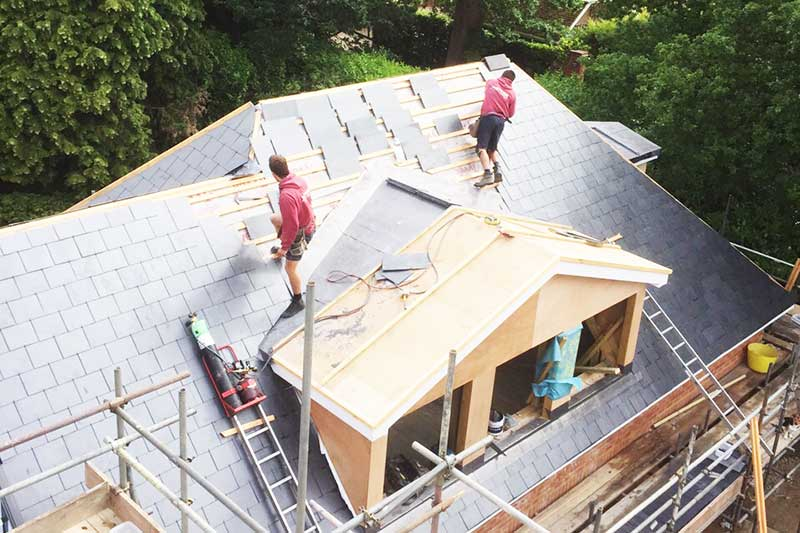 slate roofing house in Sevenoaks